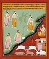 Adventures of Two Travelling Priests, Folio from a 'Panchakhyana' (Jain Recension of the Panchatantra) Series LACMA M.90.160.2.jpg