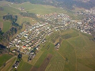 Zuzwil, St. Gallen - Aerial view of Zuzwil