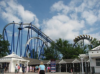 Afterburn (roller coaster) - Image: Afterburn overview