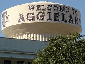Traditions of Texas A&M University - Image: Aggieland Water Tower