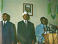 Ahmed Dini Ahmed proclaiming the Djibouti Declaration of Independence on 27 June 1977.jpg