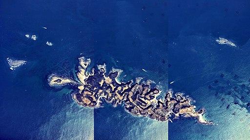 Aino-shima Island Kokura-kita Ward Aerial photograph.1974