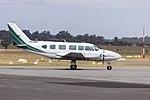 AirMed Australia (VH-MZI) Piper PA-31-350 Chieftain taxiing at Wagga Wagga Airport (2).jpg