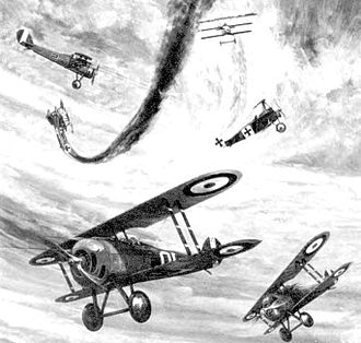 First Army Air Service - 1918 lithograph, Air Combat - Western Front
