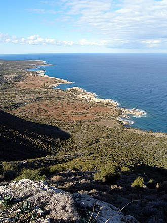 Akamas - View towards the cape