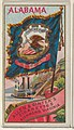 Alabama, from Flags of the States and Territories (N11) for Allen & Ginter Cigarettes Brands MET DP834501.jpg