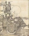 Albrecht Dürer - The Triumphal Chariot of Maximilian I (The Great Triumphal Car) (plate 2 of 8).jpg