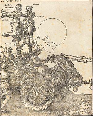 Large Triumphal Carriage - Image: Albrecht Dürer The Triumphal Chariot of Maximilian I (The Great Triumphal Car) (plate 2 of 8)