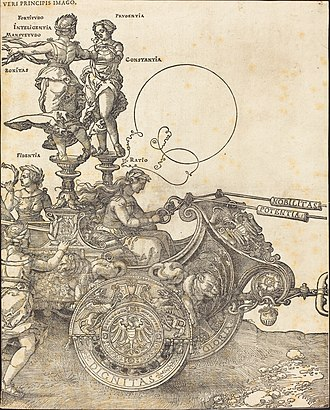 Large Triumphal Carriage - Image: Albrecht Dürer The Triumphal Chariot of Maximilian I (The Great Triumphal Car) (plate 2 of 8)