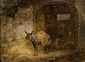Saddled Donkey