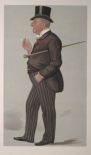 Alexander Meyrick Broadley - Vanity Fair caricature, 1889
