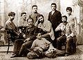 Alexander Roinashvili. Alexander Roinashvili with pupils. 1897.jpg