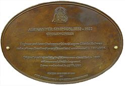 Photo of Alexander Simpson bronze plaque