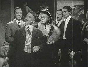 Jack Haley - Haley (far left) in a trailer for Alexander's Ragtime Band (1938)