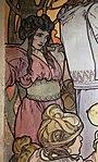 Alfons mucha, l'epoca romana e l'arrivo degli slavi, dipinto per padiglione bosnia-h. all'esp. univ. di parigi del 1900, 05.jpg