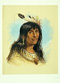 "Alfred Jacob Miller - ""Big Bowl"" ( A Crow Chief)"
