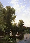 Alfred Thompson Bricher-Boating in the afternoon c1886.jpg
