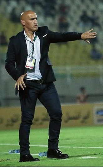 Zob Ahan SC - Alireza Mansourian, current manager of Zob Ahan