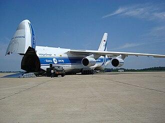Cargo aircraft - Volga-Dnepr An-124 ready for loading