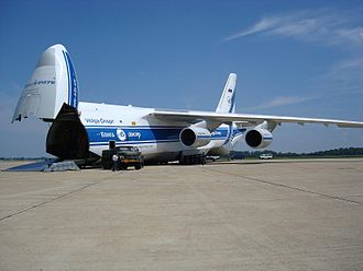 Air cargo - Volga-Dnepr An-124 ready for loading