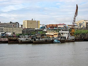 Anadyr (town) - View of Anadyr from the harbor