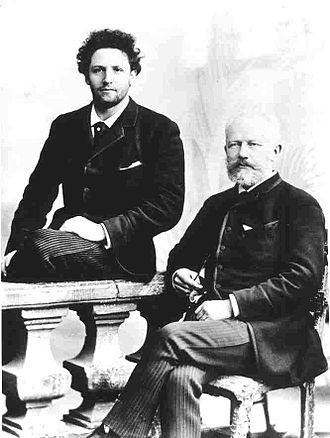 Anatoliy Brandukov - Brandukov (left), with Pyotr Ilyich Tchaikovsky