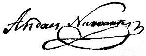 Andrés Narvarte - Image: Andrés Narvarte signature