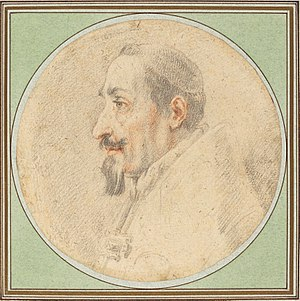 Pope Alexander VII - Drawing of Pope Alexander VII by Andrea Sacchi