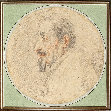 Drawing of Pope Alexander VII by Andrea Sacchi Andrea Sacchi Pope Alexander VII Drawing.jpg