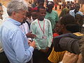 Andrew Mitchell talks to refugees from Somalia in Dadaab, Kenya.jpg