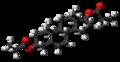 Androstenediol dipropionate molecule ball.png