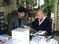 Andrzej Peciak Jerzy Giedroyc Maisons-Laffitte 1995.jpg