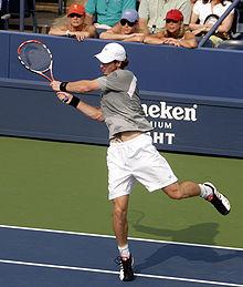 Murray durante la finale degli US Open persa contro Federer