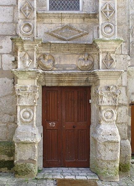 Main entrance of Hôtel Saint-Simon (XVIth century), Angoulême, France.