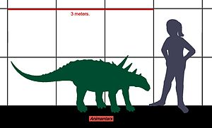 Animantarx - Size of Animantarx, compared to a human.