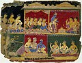 Aniruddha and his party in discussion with King Rukmi and his advisers.jpg