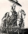 Anonymous sketch of Queen Marie Thérèse (Marie Thérèse of Austria) on horseback.jpg