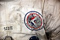 Apollo 15 spacesuit with patch and Scott name - Smithsonian Air and Space Museum - 2012-05-15 (7276435440).jpg
