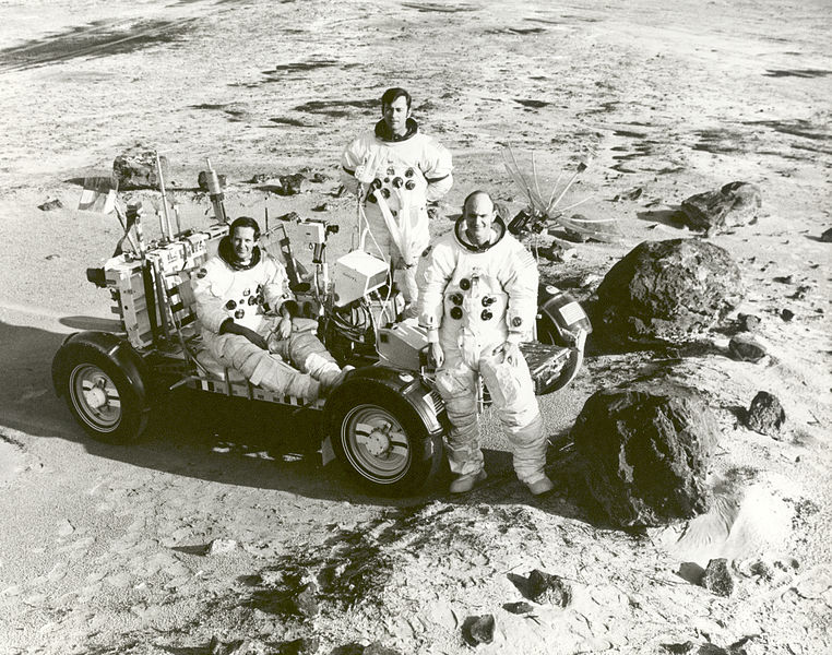 File:Apollo 16 Astronauts Train for Lunar Landing Mission ...