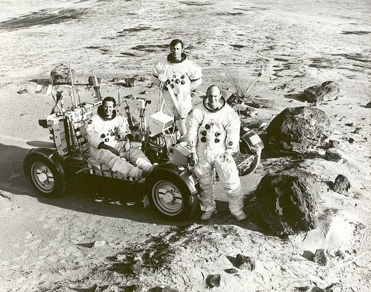 File:Apollo 16 Astronauts Train for Lunar Landing Mission ...