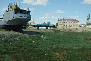 Aral, Kazakhstan - What used to be the harbour of Aral