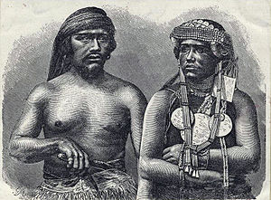 English: Araucanian (Mapuche) husband and wife...