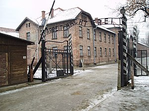 "Moshe Ha-Elion - ""Arbeit macht frei"" sign, main gate of the Auschwitz I concentration camp, Poland, 2005"