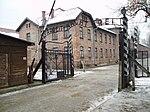 Arbeit macht frei sign, main gate of the Auschwitz I concentration camp, Poland - 20051127.jpg