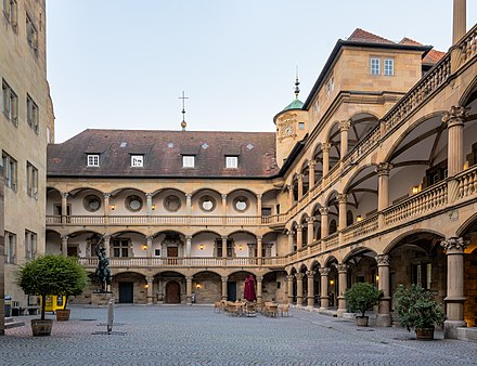 Courtyard of the Old Castle Arkadenhof Altes Schloss Stuttgart 2015 02.jpg
