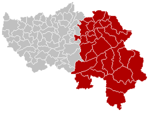 Arrondissement of Verviers - Image: Arrondissement Verviers Belgium Map