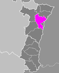 Location of Strasbourg-Campagne in Alsace
