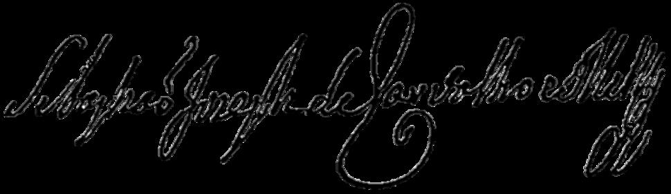 Sebastião José de Carvalho e Melo, 1st Marquis of Pombal's signature