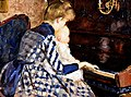 At the Piano, 1890, by Mina Carlson-Bredberg. Nationalmuseum, Stockholm, Sweden.jpg