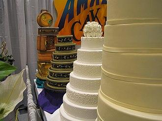 Wedding cake - Wedding cakes at the Seattle Bridal show
